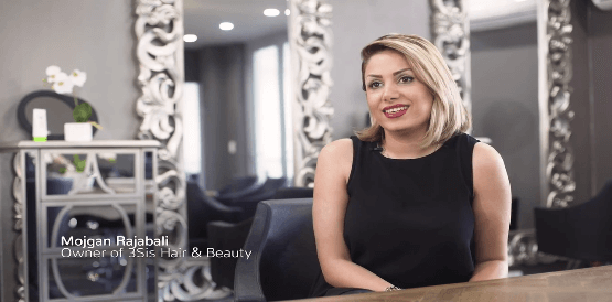 Mojgan's Journey to 3sis Hair and Beauty